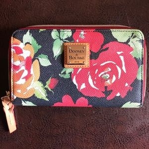 Dooney & Bourke floral leather wallet